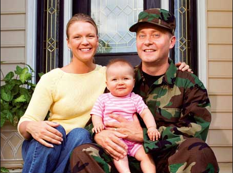 military family and house