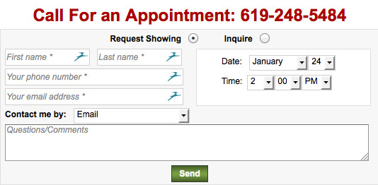 Call for an appointment to show